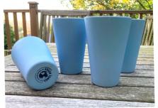 4 x Sky Blue Cups / Beakers