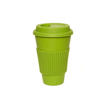 Coffee Cup - Green with Green Silicone Image