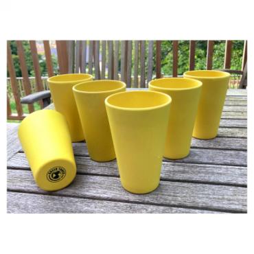 6 x Bright Yellow Cups / Beakers Image