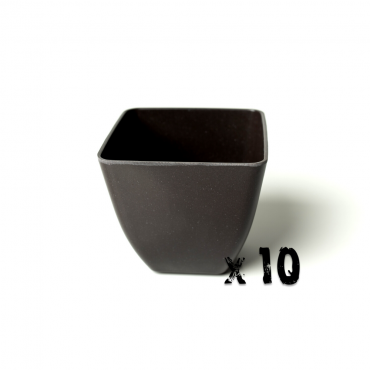 10 x Small Square Planter - Black Image