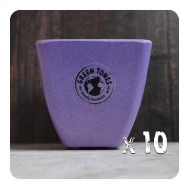 10 x Small Square Planter - Purple Image