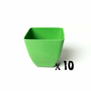 10 x Small Square Planter - Green Image