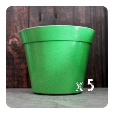 5 x Classic Plant Pot - Green Image