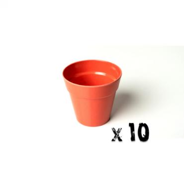 10 x Small Classic Planter - Bright Orange Image