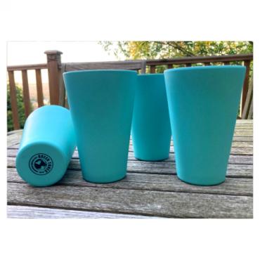 4 x Aqua Blue Cups / Beakers Image