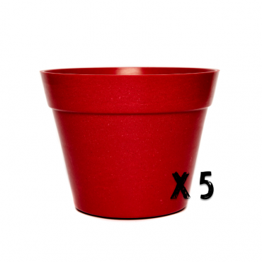 5 x Classic Plant Pot - Red Image