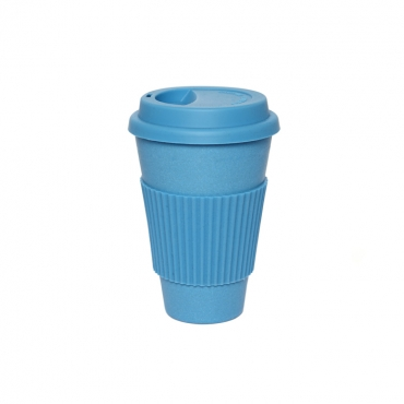 Coffee Cup - Blue with Blue Silicone Image