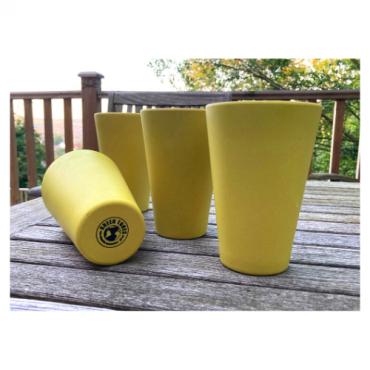 4 x Bright Yellow Cups / Beakers Image