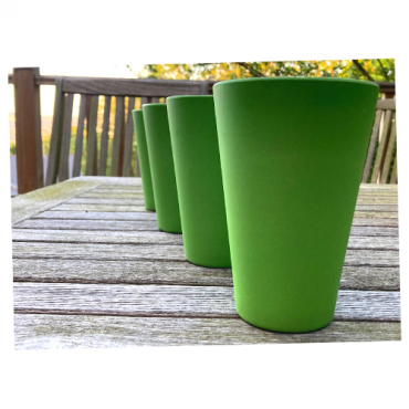 4 x Green Cups / Beakers Image