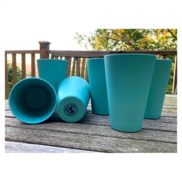 6 x Aqua Blue Cups / Beakers Image