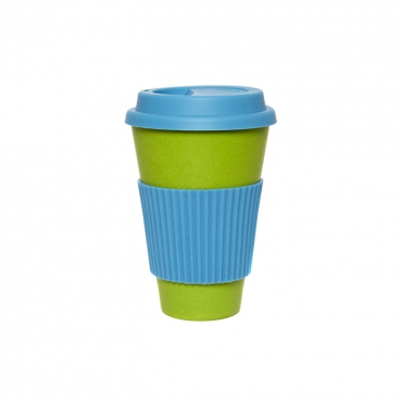 Coffee Cup - Green with Blue Silicone Image