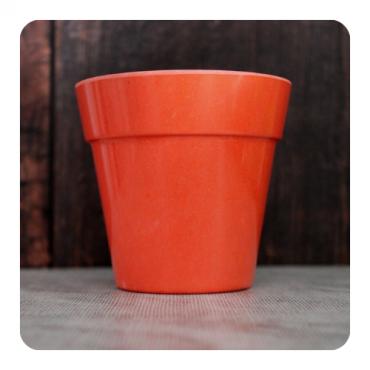 Small Classic Planter - Bright Orange Image