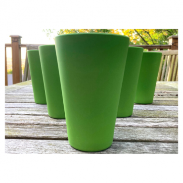 6 x Green Cups / Beakers Image