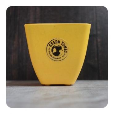 Small Square Planter - Yellow Image
