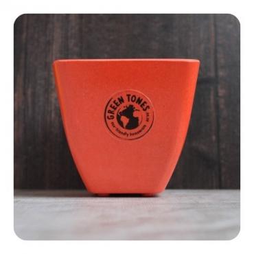 Small Square Planter - Bright Orange Image