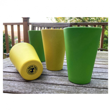 4 x Bright Yellow & Green Cups / Beakers Image