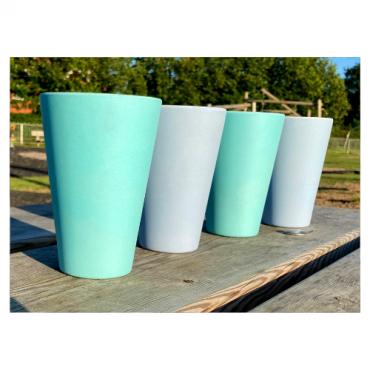 4 x Aqua & Sky Blue Cups / Beakers Image