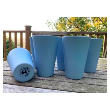 6 x Sky Blue Cups / Beakers Image