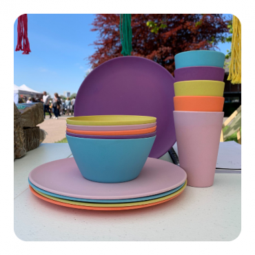 Rainbow Dining Set for Five Image
