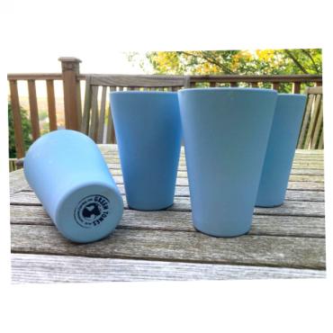 4 x Sky Blue Cups / Beakers Image
