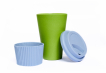 Green Cup with Sky Blue Silicone Image